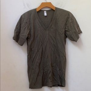 American apparel solid green shirt